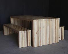 8' bento dining table | natural* wood finish
