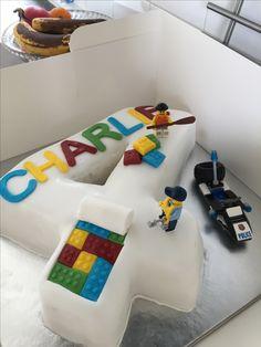 Boys Lego birthday cake 4 today