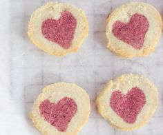 Almond cookies with a rose heart centre - #Gluten-free, #vegan and can be made raw too! #paleo friendly