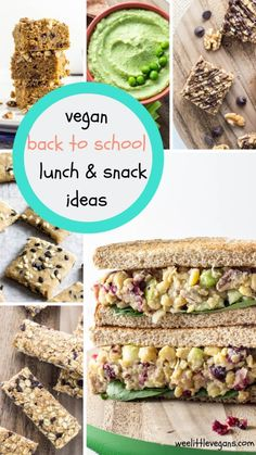 The kids are heading back to school, that means packed lunches for many vegan kids.These Vegan Back to School Lunch & Snack Ideas will keeps things tasty! Whole Wheat Blueberry Muffins, Mini Banana Muffins, Strawberry Banana Bread, Vegan Banana Bread, Banana Granola, Chocolate Chip Granola Bars, Peanut Butter Granola, Vegan Lunch Box