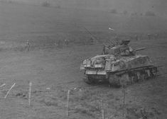 7th Armored Division M4 Sherman Tank Eisenborn Germany 1945