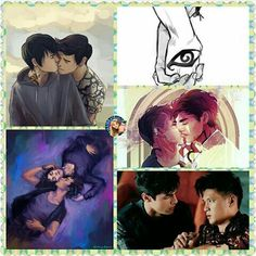 #shadowhunters #malec #pictures #collage #art #fanart #drawing #kiss