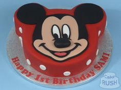 Custom cakes made in Cheshunt Mikey Mouse, Mickey Mouse Cake, Custom Cakes, How To Make Cake, Birthdays, Birthday Cake, Desserts, Personalized Cakes, Anniversaries