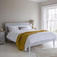 Hudson Living Marlow Bed Painted in Grey -  Modish Living Reclaimed wood bed