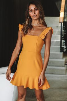 Euro Sleeveless Square Collar Solid Dresses - Casual Dresses - Ideas of Casual Dresses Short Beach Dresses, Short Mini Dress, Summer Dresses, Party Dresses, Daytime Dresses, Vacation Dresses, Mini Skirt, Summer Outfits, Wedding Dresses