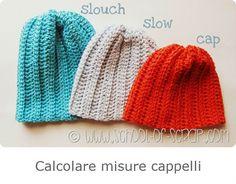 calcolo misure cappelli Crochet Beret, Crotchet, Knitted Hats, Mitten Gloves, Mittens, T Shirt Diy, Crochet Crafts, Crochet Patterns, Cross Stitch