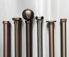 Which Stainless Collection finial is for you? See the full collection by clicking the link in our bio. this way temptation lies. Bay Window Curtain Poles, Metal Curtain Pole, Steel Curtain, Curtain Rods, Contemporary Windows, Made To Measure Curtains, Drapery Hardware, Custom Curtains, Window Styles