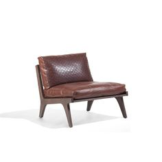 Ego Upholstered lounge armchair Frame: ash Upholstery: fabric, ecoleather, leather by Mauro Lipparini