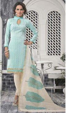 Celeste Bhagalpuri Silk Churidar Kameez with Stitching Online Shopping…