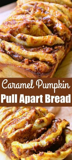 Easy Pumpkin Caramel Pull Apart Bread is super easy to make and an incredibly tasty pumpkin treat! Easy Pumpkin Caramel Pull Apart Bread is super easy to make and an incredibly tasty pumpkin treat! Pull Apart Bread, Pull Apart Pumpkin Bread, Pumkin Bread, Slow Cooker Desserts, Köstliche Desserts, Health Desserts, Easy Pumpkin Desserts, Pumpkin Recipes Easy Quick, Desserts Caramel