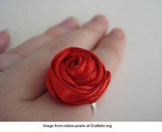 ribbon rose ring