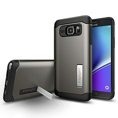 Galaxy Note 5 Case, Spigen [AIR CUSHION] Slim Armor Case for Galaxy Note 5 - Gunmetal (SGP11686) ||WIRELESS_ACCESSORY|| Made by Spigen, Inc.