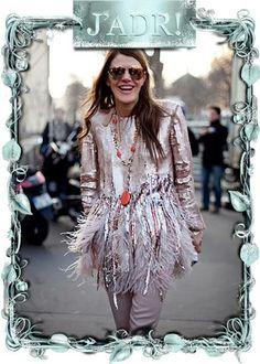 Anna dello Russo wearing a necklace by Zini