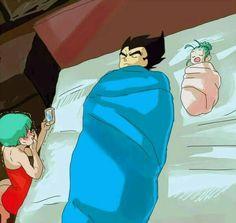 Bulma,Vegeta and Bulla Goku Ssb, Goku And Vegeta, Dragon Ball Z, Dragon Z, Anime Naruto, Anime Manga, Goten E Trunks, Akira, Like Father Like Daughter
