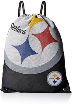 NFL Pittsburgh Steelers 2015 Jersey Drawstring Backpack, Black  http://allstarsportsfan.com/product/nfl-pittsburgh-steelers-2015-jersey-drawstring-backpack-black/  Hand-Made Product! 100% Licensed Product for the NFL, NCAA, NHL, NBA, and MLS! Made of high quality materials!