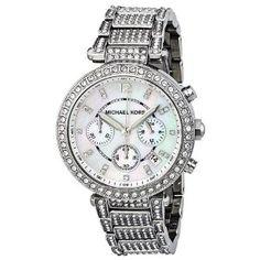 Michael Kors Parker Silver Dial Crystals Stainless Steel Mens Watch MK5572 Michael Kors. $289.00. ladies MK watch. Chrono watch. Silver , crystals