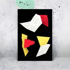 #collage #forms #geometric #design #graphics #colors #composition #mockup #paper #spray