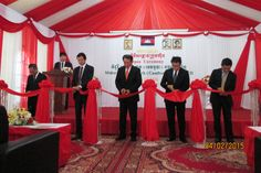 Opening Ceremony of Midori Techno Park (Cambodia) Corporation.
