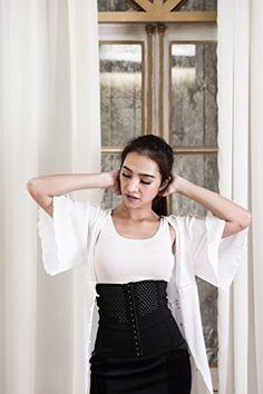 fb8b46e8690f9 Waist Trainer Mesh Corset Slimming Cincher Girdle For Women at Amazon  Women s Clothing store  Women s
