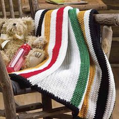 Hudson Bay Baby by Michele Maks. Crochet World Fall 2010: Afghans!