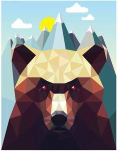 Monde Mosaic - Bear Mountain Art Print