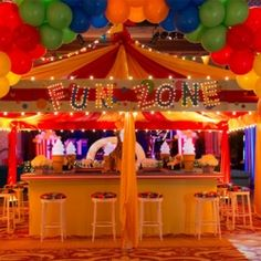 My carnival wedding reception plan! Ahh, let the planning begin! Circus Carnival Party, Carnival Wedding, Carnival Themes, Circus Birthday, 5th Birthday, Birthday Ideas, Kids Party Themes, Event Themes, Party Ideas