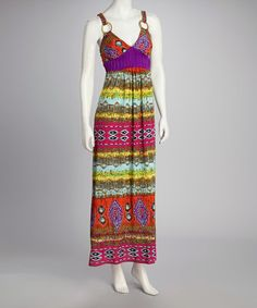 Take a look at this Red & Purple Boho Maxi Dress by Just Love on #zulily today!