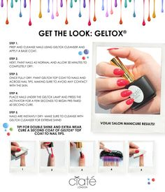 Geltox: Get the look from @ciatelondon #nails #beauty #howto #Geltox #ciatelondon