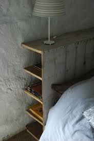 Image result for wall mounted bedhead hidden shelf