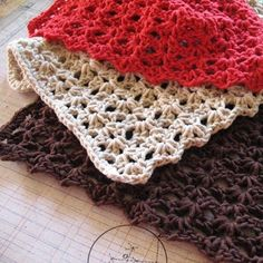 crocheted washcloths...Folks, I can't stress enough how gifty and thrifty these are!!!
