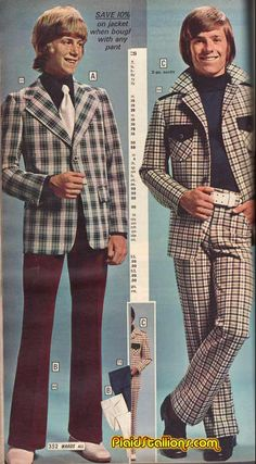 The look of 'cool' youth - 70s #fashion #mockery