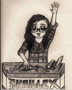 Skrillex Music Mix, Music Love, Music Is Life, Avicii, Guy, Screamo, Love Band, Cool Sketches, Film Music Books