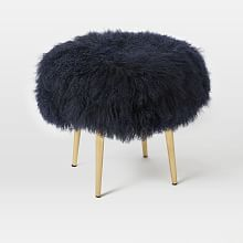 Mongolian Lamb Stool x 2 for living room Black Dining Room Chairs, Blue Chairs, Arm Chairs, Beach Chairs, Accent Chairs, Console, Country Interior Design, Adirondack Chairs For Sale, Big Chair