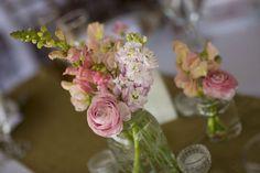 More mason jar flowers.