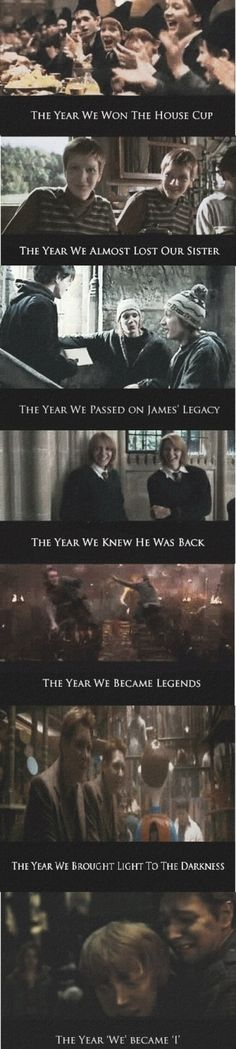 Fred and George's opinion of the years at Hogwarts