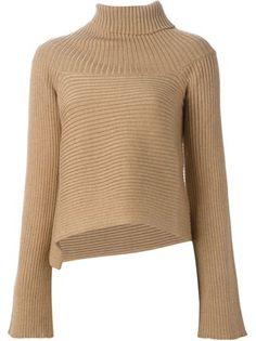 Maison Margiela ribbed knit asymmetric sweater