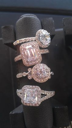 multi engagement rings antique looking