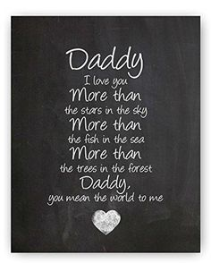 Daddy Poem Chalkboard Print by Ocean Drop Photography - Thoughtful Gift for Dad & the Perfect Father's Day Gift - Beautiful Typography Artwork - Ready to Hang Hanger Included clever fathers day gifts, dad gifts for christmas, mothers day gifts easy Picture Birthday, Dad Birthday Card, Happy Birthday Daddy, Birthday Poems For Dad, Birthday Quotes For Teacher, Happy Birthday Dad From Daughter, Birthday Message For Father, Happy Daddy Day, Father Birthday Gifts