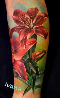 lily tattoo sleeve on pinterest lilies tattoo lily tattoo design and realistic butterfly tattoo. Black Bedroom Furniture Sets. Home Design Ideas