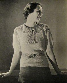 1930s crochet sweater pattern