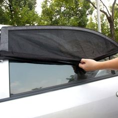 Car Window Cover UV Protection Shield Curtain Sun Shade Mesh Pest Protection 4X