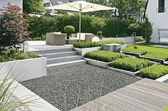 Types of Gardens – Part 2 of 3 – The Gardening Spot Summer House Garden, Home And Garden, Pea Gravel Patio, Hidden House, Outdoor Furniture Sets, Outdoor Decor, Outdoor Spaces, Contemporary Garden, Garden Features