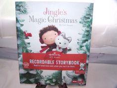 New Hallmark Jingle Husky Dog Jingle's Magic Christmas Recordable Story Book