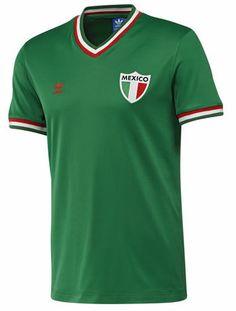 Adidas Official Mexico Retro Jersey reduced to only World Soccer Shop, Adidas Official, Adidas Originals, The Originals, Retro Shirts, Football Kits, Sports Shirts, Mens Tops, T Shirt