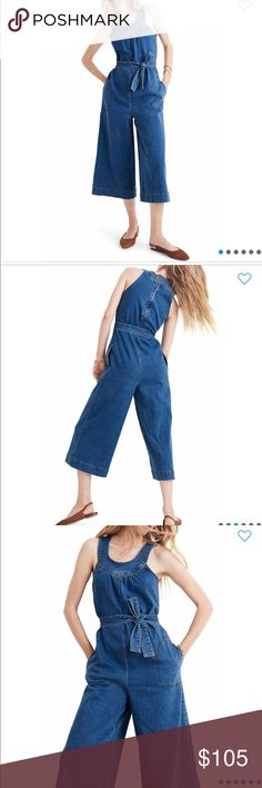 NWT Free People Scarlet Denim Jumpsuit Retail $128
