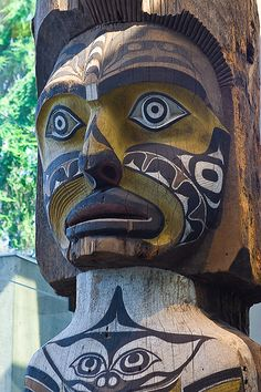 .Native American totem pole at the Museum of Anthropology in Vancouver, Canada by chasemaxfield, via Flickr
