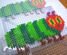 Winter Activities For Kids, Crafts For Kids, Arts And Crafts, Caterpillar Craft, Hungry Caterpillar, Fuse Beads, Hama Beads, Perler Bead Designs, Birthday Traditions