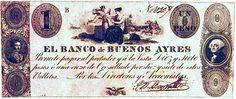 En Argentina en 1827 circuló el 1er Billete en el Mundo con la efigie de Bolívar.