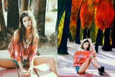 Not only is the top a gorgeous style and so very Boho .. we Love the tie dye ...