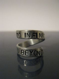 To infinity and beyond ring, via Etsy.